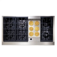 """GE Monogram® 48"""" Professional Range with 6 Burners and Griddle (Natural Gas)"""