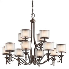 Lacey Collection Lacey 12 Light, 2 Tier Chandelier - MIZ
