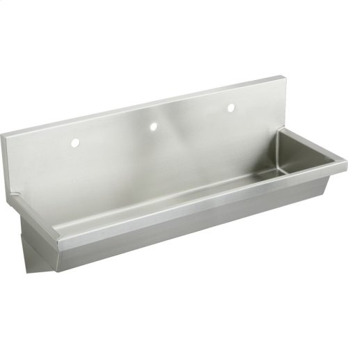 "Elkay Stainless Steel 60"" x 20"" x 8"", Wall Hung Multiple Station Hand Wash Sink"