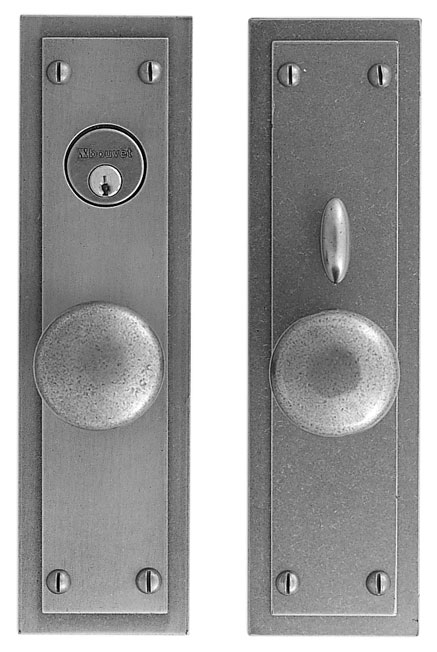 "Lever set - Complete single cylinder set for 1 3/4"" door"