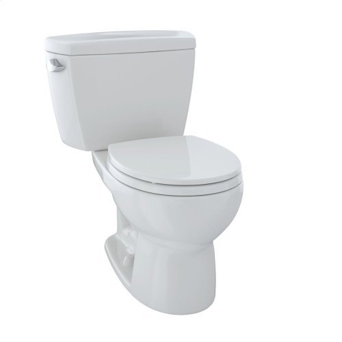 Eco Drake® Two-Piece Toilet, 1.28 GPF, Round Bowl - Colonial White