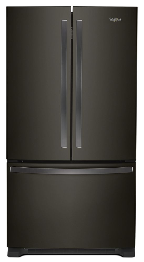 Whirlpool 36 Inch Wide French Door Refrigerator With Water Dispenser   25  Cu. Ft.