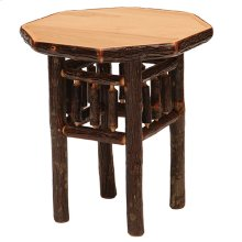 Octagon Nightstand Natural Hickory