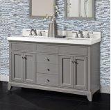 "Smithfield 60"" Double Bowl Vanity - Medium Gray Product Image"