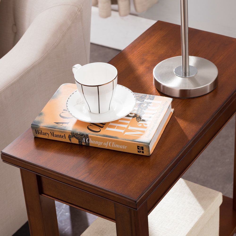narrow chairside table with drawers migueldhdez hidden additional grayson narrow chairside table 10505sn 10505sn in by leick furniture inc ridgeway wi