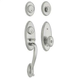 Satin Chrome Landon Two-Point Lock Handleset