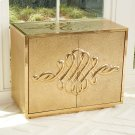 Scroll Two-Door Cabinet-Brass Product Image