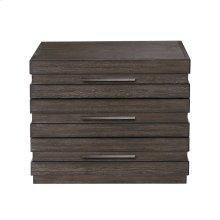 Stackhaus 3 Drawer Nightstand in Dark Brown
