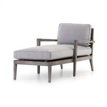 Laurent Outdoor Chaise-weathered Grey Te