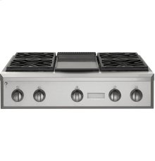 "GE Monogram® 36"" Professional Gas Rangetop with 4 Burners and Griddle (Natural Gas)"