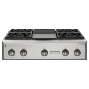 "MonogramMonogram 36"" Professional Gas Rangetop with 4 Burners and Griddle (Natural Gas)"