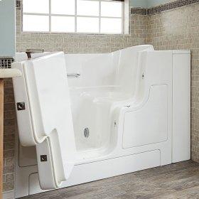Gelcoat Premium Series 30x52 Walk-in Tub with Outswing Door, Left Drain  American Standard - Linen