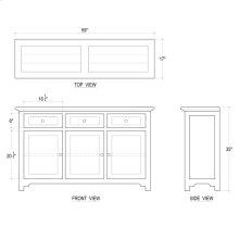 Aries Sideboard w/ 3 Doors