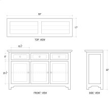 Aries Sideboard w/ 3 Doors
