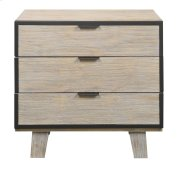 Emerald Home Synchrony 3 Drawer Nightstand Washed Linen B112-04 Product Image