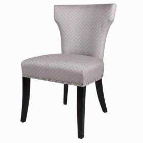 Dresden Fabric Chair Black Legs, Basket Weave Gray