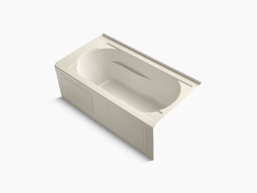 """Almond 60"""" X 32"""" Alcove Bath With Integral Apron, Integral Flange and Right-hand Drain"""