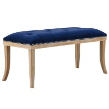 Expression Velvet Bench in Navy