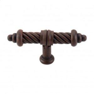T-Shaped Twist Knob 3 5/8 Inch - Patina Rouge