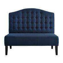 Uph Tufted Back Bench - Navy Blue