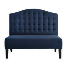 Uph Tufted Back Bench - Navy Blue