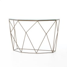 Geometric Console Table-antique Brass