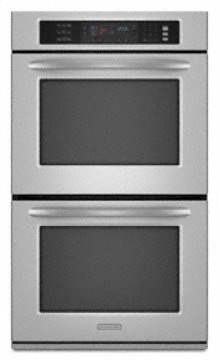 """Double Oven 30"""" Width 4.3 cu. ft. Capacity Even-Heat™ True Convection System in Upper and Lower Oven Architect® Series II"""