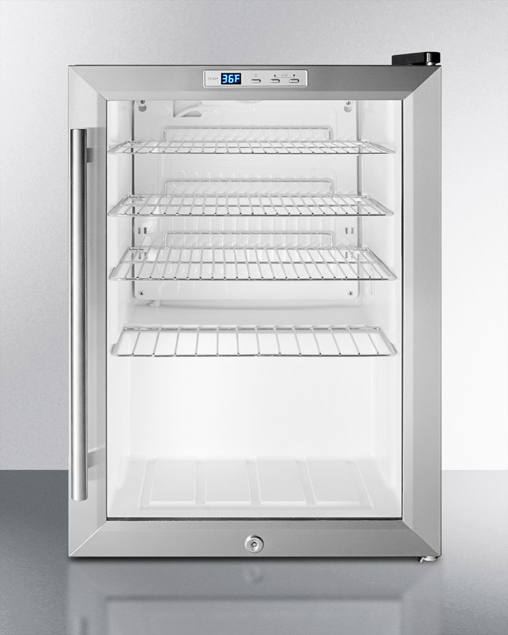 Scr312l Summit Commercially Approved Countertop Beverage Cooler With