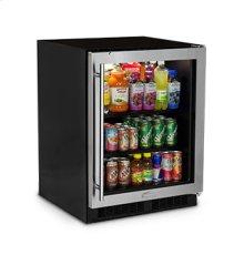 "24"" Low Profile Beverage Center - Stainless Frame Glass Door - Left Hinge"