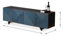 """The """"Under A Tv"""" Cabinet, Dark Blue"""