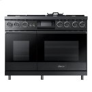 """48"""" Pro Dual-Fuel Steam Range, Graphite Stainless Steel, Natural Gas Product Image"""