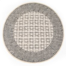 9' Size Flatweave Faded Round Stripe Rug