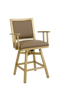 Windsor B244H26AS Swivel Back And Arms Bar Stool Product Image