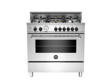 36 5-Burner, Gas Oven LP Stainless