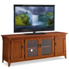 "Canted Side Mission Oak 60"" Four Door TV Console #82560"