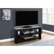 "TV STAND - 42""L / BLACK / GREY TOP CORNER"