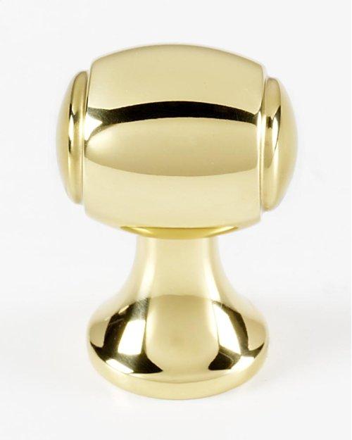 Royale Knob A981-34 - Polished Brass