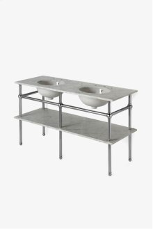 "Pratt Metal Five Leg Double Washstand 56 1/16"" x 20"" x 32"" STYLE: PRWS02"