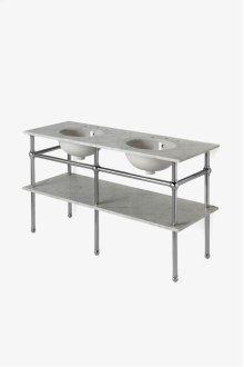 "Pratt Metal Five Leg Double Washstand 56 1/16"" x 20"" x 32"" STYLE: PRWS02"
