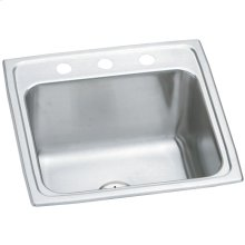 """Elkay Lustertone Classic Stainless Steel 19-1/2"""" x 19"""" x 10-1/8"""", Single Bowl Drop-in Laundry Sink w/Perfect Drain"""