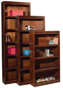 """Essentials Lifestyles 94"""" Bookcase with Fixed Shelves"""