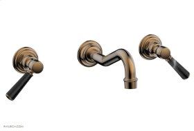 HENRI Wall Tub Set - Marble Lever Handles 161-58 - Old English Brass