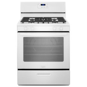 White Whirlpool® 5.1 cu. ft. Freestanding Gas Range with Under-Oven Broiler