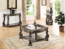 Madison Wood End Table Grey