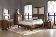 Queen Platform bed,Dresser,Mirror,Night Stand