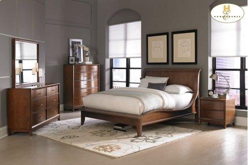 Queen Platform bed,Dresser,Mirror,Night Stand