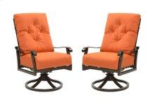 Emerald Home Chatham II Swivel Chair Sunbrella Cayenne Od1062-22-05