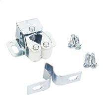 Zinc Finish Double Roller Catch with Strike and Screws