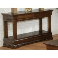 Phillipe Sofa Table with Shelf with 2 Drawers