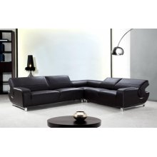 Divani Casa Motif - Modern Leather Sectional Sofa